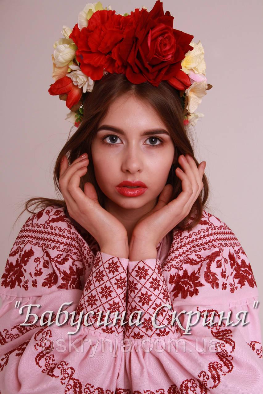 Заготівля Сокальської жіночої сорочки для вишивки нитками/бісером БС-100