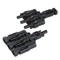 Коннекторы для солнечных батарей МС4 Т-branch пара (тройные)