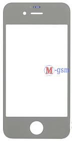 Корпусное стекло на  iPhone 4 белое
