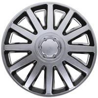 Колпаки на колеса R16 серо / черные SL/BK супер сильвер колпак K0275