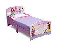 Кровать деревянная Диснеевские принцессы без ящиков от Delta Children