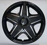 Колпаки на колеса R16 черные блэк колпак K0299