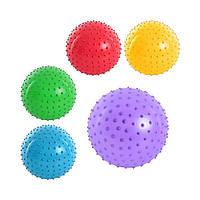 """Мяч массажный, 3 """", 5 цветов, MS 0021"""
