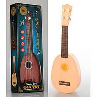 Гитара 36,5см, струны 4штуки, 2 вида  8816