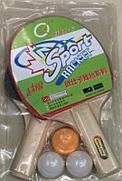 Теннис настольный , 2 ракетки, 3 мяча, 7 мм, PP0102