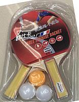 Теннис настольный , 2 ракетки, 3 мяча, 8 мм, PP0103