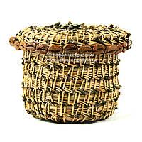 Конфетница ручной работы плетеная из сосновых иголок 9408