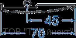 Алюминиевый профиль замочный 70х5 АД31Т5 анод.
