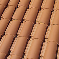 Черепица CURVED ROOF TILE T5 RED ( терракот )