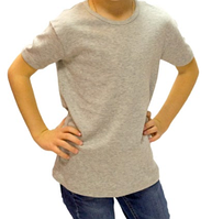Серая футболка детская для мальчика летняя без рисунка трикотажная хлопок (Украина)