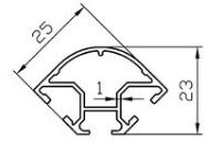 Алюминиевый профиль 25x23 АД31Т5 анод.