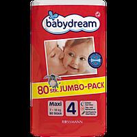 Подгузники Babydream 4, 80 шт
