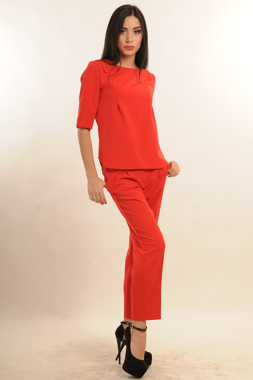 Брючный костюм Горчица Ри Мари красный