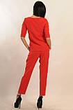 Брючный костюм Горчица Ри Мари красный, фото 4