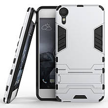 Чехол накладка силиконовый Armor Shield для HTC Desire 10 Pro серебристый