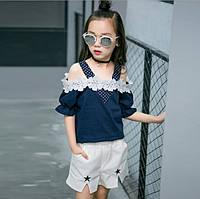 Блузка и шорты для девочки.