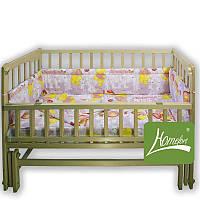 """Комплект постельного белья в детскую кроватку """"Кроха"""", 4 предмета, розовый, Homefort, 2050039"""