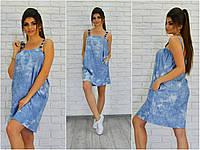Джинсовое женское  платье Анита