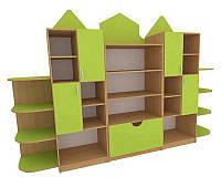 Модульный шкаф для хранения игрушек 280х40 см. h-100 см.