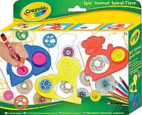 "Набор для творчества с карандашами и трафаретами животных ""Спирали"", Crayola, 545200"