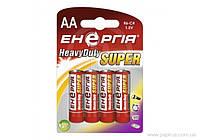 Батарейка Энергия Heavy Duty R6 АА (блистер, 4/40/1200)