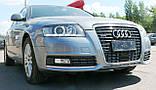 Декоративно-захисна сітка радіатора Audi (Ауді) A6 фальшрадіаторная решітка, бампер, фото 7