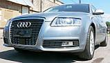 Декоративно-захисна сітка радіатора Audi (Ауді) A6 фальшрадіаторная решітка, бампер, фото 8