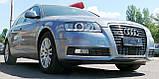Декоративно-захисна сітка радіатора Audi (Ауді) A6 фальшрадіаторная решітка, бампер, фото 9