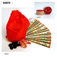 Лото B08878 (W5001A) (120шт) карточки, бочонки, фишки, мешочек, в пакете 22см