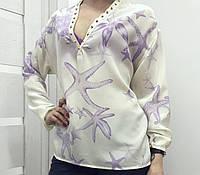 Блуза шёлковая с шипами от Versace