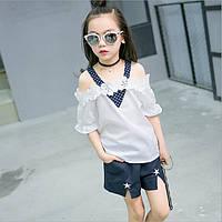 Стильные блузка и шорты для девочки.