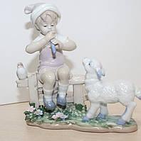 """Фарфоровая статуэтка """"Мальчик и ягненок"""" (Pavone) JP-45/14"""