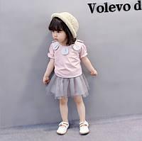 Детская футболка и юбка из фатина для девочки