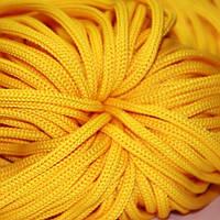 Шнур 4 мм ПП №4418 жёлтый 100 м