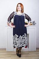 Женское платье большого размера СКАРЛЕТ ЦВЕТЫ  ТМ ИРМАНА 58-68 размеры