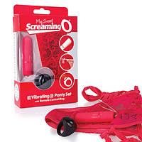Вибротрусики с дистанционным пультом Screaming O Remote Control Panty Vibe Red