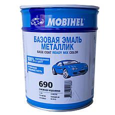 Авто краска (автоэмаль) металлик Mobihel (Мобихел) 690 Снежная Королева, 1л, фото 2