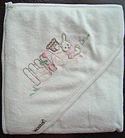 Детское махровое полотенце с капюшоном