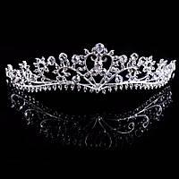 Диадема корона ХЕЙЛИ Тиара Виктория диадема свадебная для волос