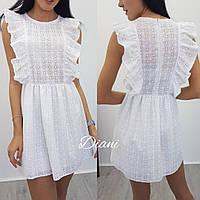 Платье ткань прошва юбка на подкладке размер 42-44(21382)