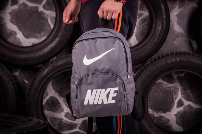 Спортивный рюкзак Nike серый, фото 2
