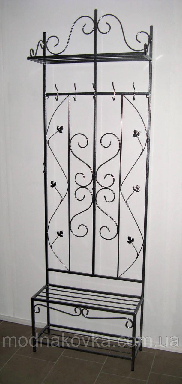 Кованая прихожая 70 см - вешалка и этажерка