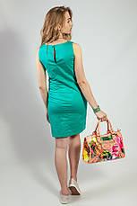 Женское летнее платье  зеленое короткое деловое Camaieu, фото 3