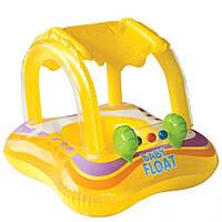 Детский надувной плотик-райдер для плавания Intex 81 х 66 см , фото 1