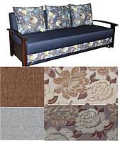 Теннесси диван с подлокотниками из натурального дерева с цветами