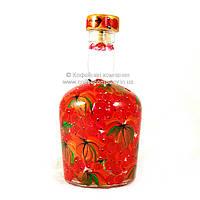 Бутылка декорированная ручная роспись с корковой крышкой 0,5л 9409