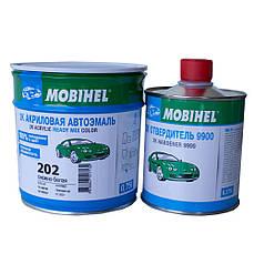 Авто краска (автоэмаль) акриловая Mobihel (Мобихел) 202 снежно-белая 0,75л с отвердителем 0,375л
