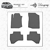 Автомобильные коврики Stingray Peugeot 107 2005-