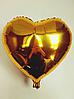 """Фольгированные шары """"Сердечки"""" 18"""" (45 см)  Золото Balloons"""