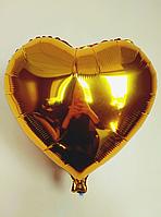 """Фольгированные шары """"Сердечки"""" 45 см Золото"""